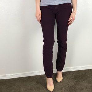 Free People Skinny Purple Corduroy Pants